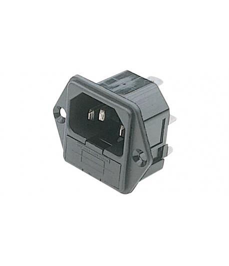 CONECTOR ALIMENTARE AC 10A 250VAC IEC60320 PF0001/63